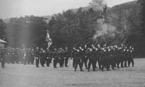 昭和39年、静岡市護國神社で行なわれた戦没者合同慰霊祭